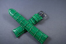 20mm Emerald Green 100% Genuine SOFT Leather Watch Interchangeable Band Strap