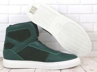 Cipher Sentient Deep Green Leather Suede Men's High Top Trainers Sneakers