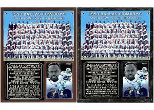 Dallas Cowboys Super Bowl XXVIII Champions Photo Card Plaque