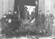 ANTIQUE EARLY MOOSE HUNTING REPRODUCTION 8X10 PHOTO WINCHESTER RIFLES