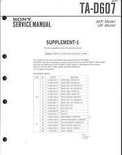 Sony Original Service Manual für TA-D 607 Supplement-1