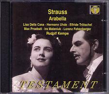 STRAUSS: ARABELLA Lisa Della Casa Max Proebstl Ira Malaniuk KEMPE 1953 Live 2CD