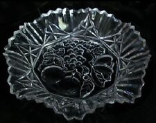 Vintage Federal Glass Pioneer Ruffled Crimped  Bowl 11""