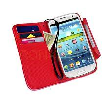 Leder Tasche Hülle Etui mit Handschlaufe für Samsung Galaxy S III GT-I9300 S3
