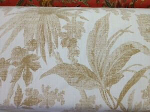 covington fabrics leaves print outdoor brown tan fabric by the yard floral print