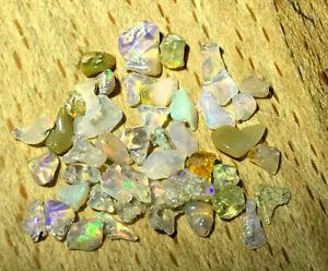 Lot Kleine Welo Opal - Rohlinge - Chips - unbehandelt  5,00Ct  Äthiopien