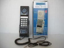 TELEFONO PARETE ABS MARRONE CON TASTI E REDIAL MEMORY ANNI '80