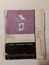 Rowe / Ami Model L, Jal-200 Jukebox Service Manual, Installation & Parts
