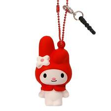 Sanrio Squishy Ball Chain Earphone Jack Plug Charm Accessory (My Melody / Red)