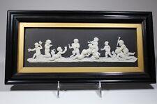 *Rare* Wedgwood Only Black Jasperware Plaque C.1880