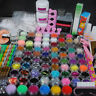 DIY Acrylic Nail Kit Acrylic Liquid Powders Nail Tips Brush Starter Kit Set