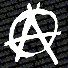 """Anarchist Anarchy Badge JDM Lowered Decal Sticker Car Truck 5"""" Free Shipping"""