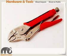 10'' Cr-V Soft Grip Locking Pliers Vice Grip Clamp 3 Rivets Curve Jaw