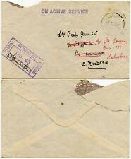 WW2 EAF to RHODESIA 1942 MILITARY CENSOR 43 + APO 75 OAS