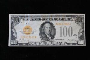 1928 $100.00 Dollar Gold Certificate