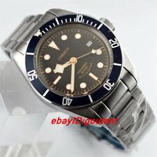 41mm Corgeut Edelstahl Gehäuse Armband Saphirglas Automatisch Armbanduhren Watch