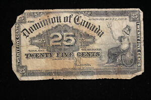 1900 Dominion of Canada. 25 Cents. Shinplaster. Saunders.
