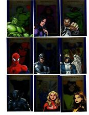 2014 Marvel 75 th Anniversary SAPPHIRE parallel 90 card Base+PROMO p1 + wrapper
