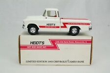 ERTL Heidt's Hot Rod #5 1955 Chevrolet Cameo White Truck Coin Bank Diecast Metal