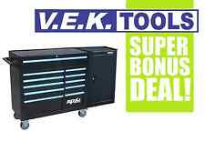 "SP TOOLS H/DUTY 42"" 11DRW B/BEARING ROLLER TOOL BOX CHEST BONUS SIDE CABINET"