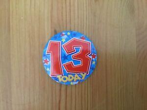 Boys Age 13 Birthday Badge