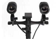 Dual E27 Studio Flash Light Lamp Mount Swivel Bracket Adapter Umbrella Holder