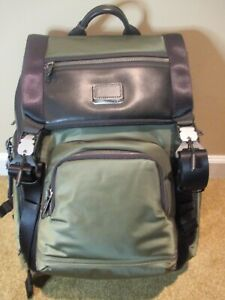 Tumi Mens Alpha Bravo LARK Backpack Forrest Green Back Pack~NEW with TAGS