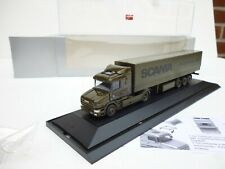 1/87 HO  HERPA  SCANIA 124 L HAUBER PRITSCHE /PLANE ARMY MADE IN HOLLAND NEW OVP