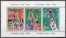 Ελλάδα / Griechenland Block 6** (1660-1662**) Basketball EM 1987 Athen