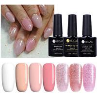 Rosa  UV Gel Nagellack Glitter Soak Off Gel Polish Nail Art Varnish 7.5ml