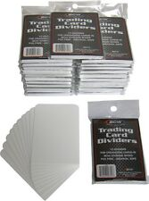 (25) BCW TCD 10 Packs White Trading Card Divider Cards Separators MTG Sport CCG
