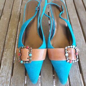 Ladies Dumond Suede sling back shoes