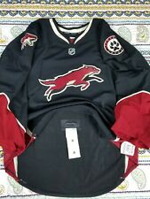 Phoenix Coyotes Reebok CCM Team Issued Alternate Goalie Jersey 58 Fight Strap