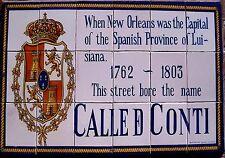 MAGNET New Orleans Street Sign CALLE DE CONTI
