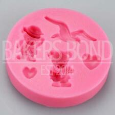 Teddy Bear Bird & Heart Silicone Mould Fondant Icing Cake Cupcake Topper Baking