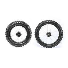 Front 70/100-17 + Rear 90/100-14  Knobby Tyre (15mm Axle Hole) + Rims Dirt Bike