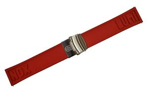 Genuine Luminox Watch Band Strap 24mm EPDM RED Steel 3050/3080/3150/4200/8800