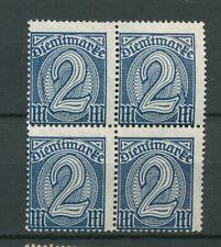 Reich Dienst 32 postfris blok van vier