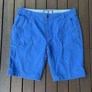 Fat Face Blue Cargo Shorts Size 38 Knee Length Baggy Casual Mens