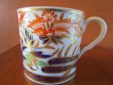 ANTIQUE PORCELAIN IMARI STYLE HAND PAINTED COFFEE CAN TEA CUP MUG  ENGLAND