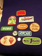 #14 of 32, LOT OF UNIFORM PATCHES, RYOBI, RCBS, TYSON, BUICK OLDS, RAMGLIDE, CVA