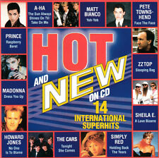 V.A. - HOT AND NEW ON CD © 1986>A-Ha,Prince,Madonna,Howard Jones,The Cars,ZZ Top