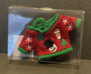 Dunkin Donuts Holiday Sweater Ornament/Gift Card Holder