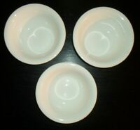 "(3) Fitz & Floyd NEVAEH WHITE 6 1/2"" Cereal Bowls"