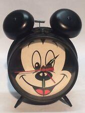 Disney Mickey Mouse Wind Up Black Alarm Clock Sunbeam 883-135