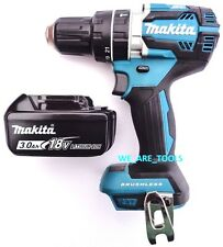 "New Makita Brushless 18V XPH12 1/2"" Hammer Drill, (1) BL1830 Battery 18 Volt LXT"