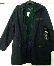Colebrook 100% Cotton Ladies Navy Winter Jacket Sz S - Detachable Hood -M/C Wash