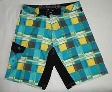 NWT Maui & Sons Board Shorts 32 Boardies 4-Way Stretch #MSBSS1230 $65 Turquoise