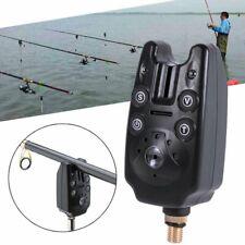 LED Fishing Bite Alarm Electronic Light Indicator Sound Bell Alert Clip on Rod