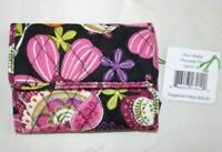 VERA BRADLEY Euro Wallet - Small Trifold - Pirouette Pink - Lots of slots - NWT
